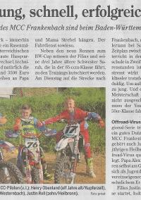 Presse 2017: BW-Cup