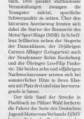 Artikel in der HSt: Terminstress für Motocross-Junioren